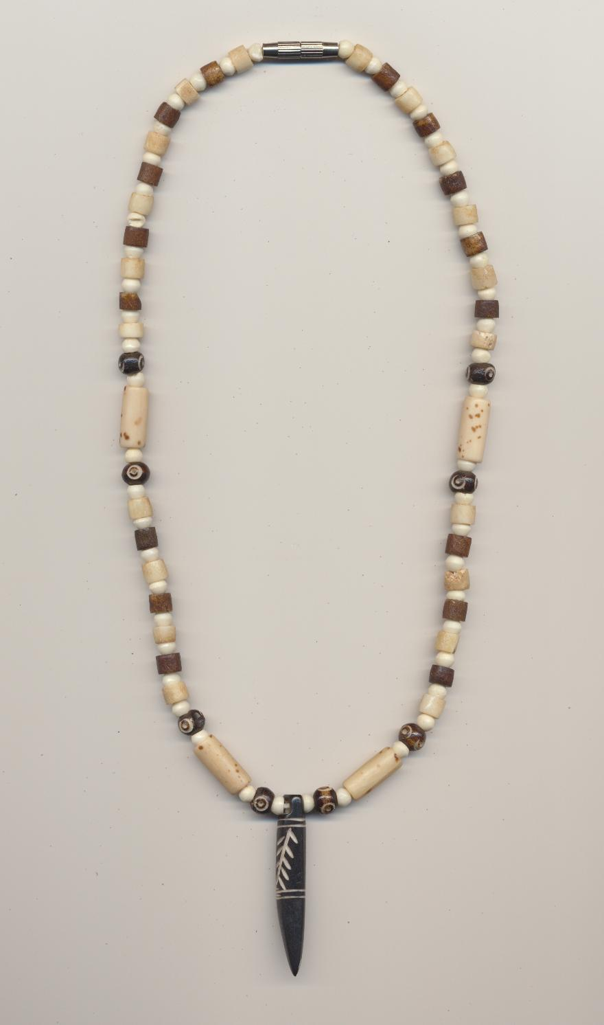 vintage necklace elephant bone beads jade carved item full painted pendant bars bead